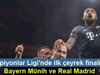 Şampiyonlar Ligi'nde ilk çeyrek finalistler Bayern Münih ve Real Madrid