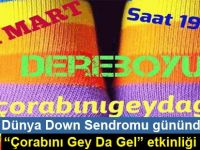 """Dünya Down Sendromu gününde """"Çorabını Gey Da Gel"""" etkinliği"""