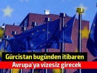 Gürcistan bugünden itibaren Avrupa'ya vizesiz girecek