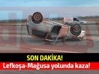 Lefkoşa-Mağusa yolunda kaza!