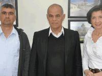 Slovakya Cumhuriyeti Kıbrıs Büyükelçisi Tomova Lefke Belediye Başkanı Aziz Kaya'yı ziyaret etti