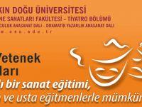 YDÜ Sahne Sanatları Fakültesi, tiyatro bölümüne öğrenci alınacak