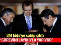 """Eide """"Türk tarafı adına lobi yapmak"""" ile suçlanmıştı"""