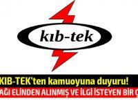 KIB-TEK'ten kamuoyuna duyuru!