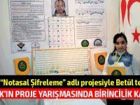 """KKTC'yi """"Notasal Şifreleme"""" adlı projesiyle Betül Sude Yakut temsil etti"""