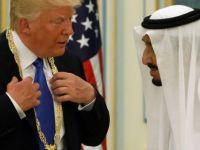 Kral Selman Trump'a nişan taktı