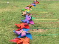 """Kamusal alana sanatsal müdahale """"rüzgar gülü'' projesi hayata geçirildi"""