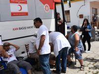 Kan bağışı kampanyalarında 370 ünite kan toplandı
