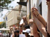 Lefkoşa'da barış için insan zinciri