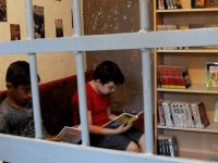 Eski karakol, artık kütüphane…
