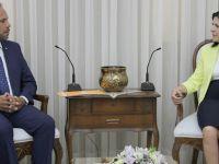 Siber, İskele Belediye Başkanı Sadıkoğlu'nu kabul etti