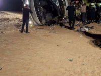 Ürdün'de umreden dönenleri taşıyan otobüs kaza yaptı: 6 ölü, 38 yaralı
