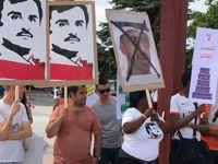 BM önünde Katar protestosu