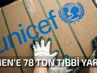 Yemen'e 78 tonluk tıbbi yardım
