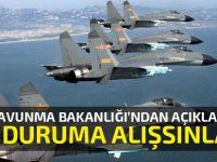 """Çin Savunma Bakanlığı'ndan bombardıman uçakları tatbikatına açıklama: """"Bu duruma alışsınlar"""""""