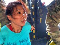 Lefke'de mahsur kalan 3 kişiyi GKK helikopteri kurtardı