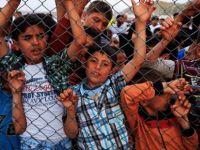 Protesto yapan sığınmacı çocuklara ırkçı saldırı