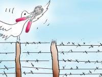 Ara Bölge'deki karikatür sergisi açıldı