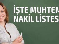 KTOEÖS öğretmenlerin 'muhtemel nakil listesini' açıkladı: İşte tam liste!