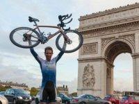 Bisikletle 79 günde 'devr-i alem' yaptı!