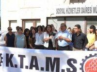 KTAMS, Sosyal Hizmetler Dairesi önünde açıklama yaptı