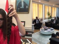 Büyüklere örnek olsun: 15 yaşındaki Ceyda, saçlarını kanser hastaları için bağışladı
