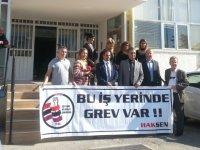 Hak-Sen, Sosyal Sigortalar Dairesi Gazimağusa'da grev yaptı