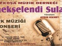 """Lefkoşa Müzik Derneği Türk Müziği Korosu'ndan """"Menekşelendi Sular"""" konseri"""