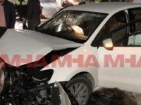 Gazimağusa'da 2 araç yüz yüze çarpıştı!