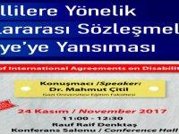 """LAÜ'de """"Engellilere Yönelik Uluslarası Sözleşmelerin Türkiye'ye Yansıması"""" konulu konferans gerçekleşecek"""