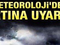 Meteoroloji Dairesi sel, fırtına ve yıldırıma karşı tedbirli olunması uyarısında bulundu