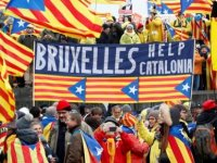 45 bin Katalan Brüksel'de bağımsızlık için gösteri yaptı