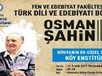 Osman Şahin DAÜ'de öğrencilerle bir araya gelecek