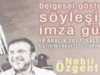 Nebil Özgentürk ile söyleşi film gösterimi ve imza günü gerçekleşecek