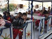 Çocukların 'Lefkoşa Gezi Treni' keyfi