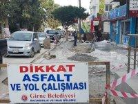 Girne'de altyapı ve kaldırım çalışması yapılıyor