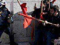 Yunanistan'da grev hakkı için grev