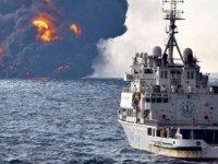 Çin açıklarında batan İran tankerinden sızan petrol 100 kilometrekarelik alana yayıldı