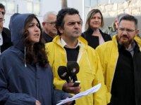 KTOEÖS, Meclis önünde pankartlı eylem yaptı