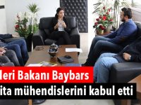 İçişleri Bakanı Baybars harita mühendislerini kabul etti
