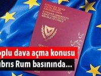 Toplu dava açma konusu Kıbrıs Rum basınında...