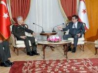 Başbakan Erhürman, GKK Komutanı Tuğgeneral Algan ve Volkan'ı kabul etti