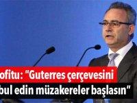 """Neofitu: """"Guterres çerçevesini kabul edin müzakereler başlasın"""""""