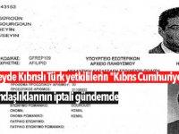 """Güneyde Kıbrıslı Türk yetkililerin """"Kıbrıs Cumhuriyeti""""  vatandaşlıklarının iptali gündemde"""