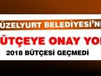 Güzelyurt Belediyesi 2018 bütçesi onaylanmadı