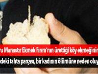 Ekmeği yerken tahta parçaları boğazına saplanan bir kadın ölümden döndü