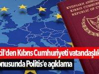Elcil'den Kıbrıs Cumhuriyeti vatandaşlıkları konusunda Politis'e açıklama