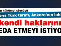 """""""Kıbrıs Türk tarafı, Ankara'nın lehine, kendi haklarını feda etmeyi istiyor """""""