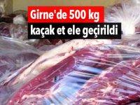 Girne'de 500 kg kaçak et ele geçirildi