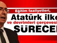 Özyiğit, eğitim faaliyetlerinin, Atatürk ilke ve devrimleri içinde evletin gerekli denetim ve yönlendirmeleri yapacağı bir şekilde sürecek